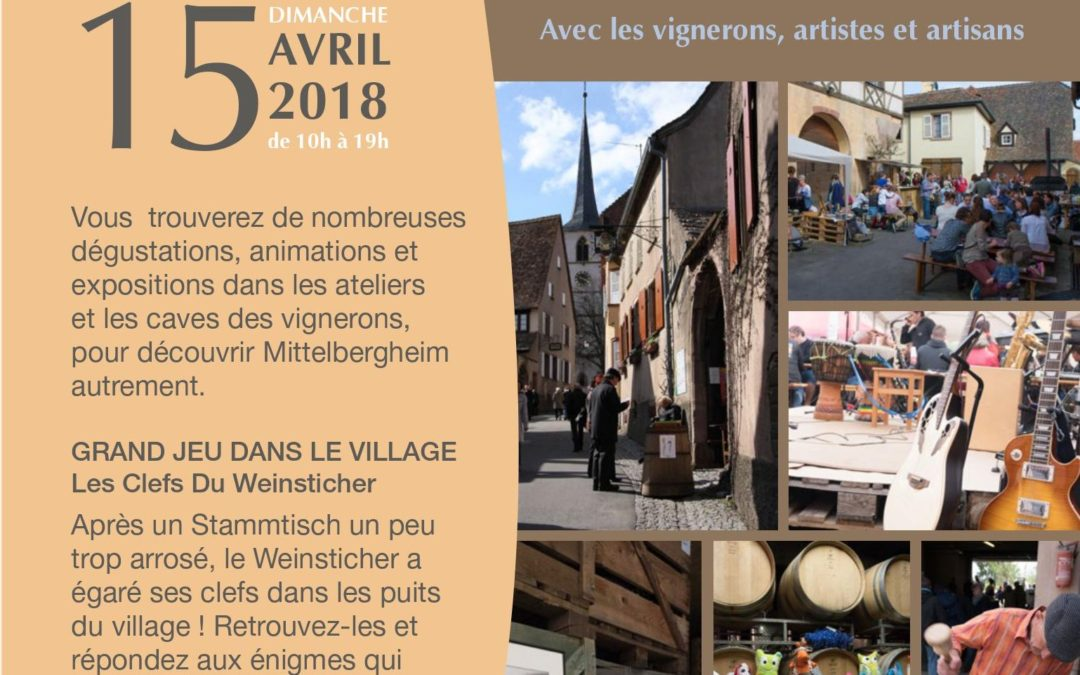 Caves ouvertes à Mittelbergheim dimanche 15 avril 2018